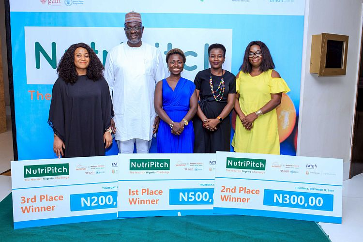 L to R: Amaka Adekoya, C.O.O of Ladiv Integrated Services; Oluwaseun Sangoleye, Mum-in-Chief of Baby Grubz; Adenike Adeyemi ED, FATE Foundation; Juliet Aigbe, Founder of Bourffe Bakeries Ltd.